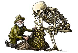 Niet de boswachter maar de grafrechthandel verdient aan Natuurbegraven.