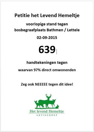 petitie van Aktiegroep het Levend Hemeltje tegen natuurbegraven in Overijssel
